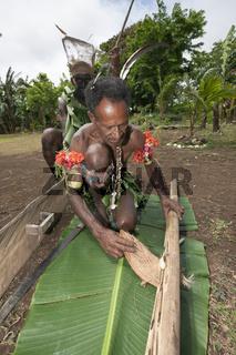 Demonstration Feuer machen, Papua Neuguinea