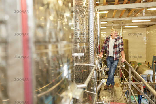 Weinmeister überwacht die Wein Produktion