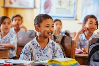 Balinese School Children in Indonesia