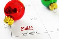 Christmas and Holidays Stress concept