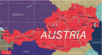 Austria country detailed editable map