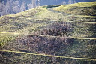 Blick auf die Halde Humbert von der Kissinger Höhe in Hamm, Deutschland