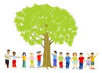 Kinder unterm Baum.eps