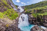 Kjosfossen waterfall along the Flamsbana railway