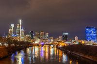 Philadelphia city night
