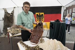 beschlagnahmte Häute und Felle: Krokodil