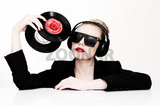 Beautiful sensual disc jockey