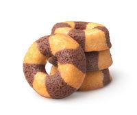 Stack of chocolate banana sponge cakes