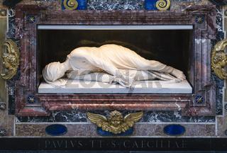 Skulptur der Heiligen Cäcilie, Santa Cecilia