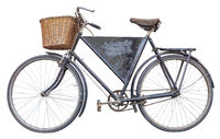 Isolated Vintage Delivery Bike