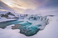Iceland Godafoss Winter