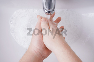 washing hands with soap and water from personal perspective