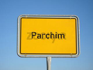 Ortsschild Parchim