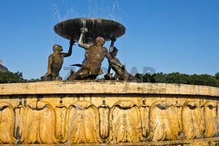 Triton Springbrunnen, Valletta, Malta