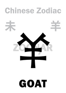 Astrology: GOAT / SHEEP (sign of Chinese Zodiac)