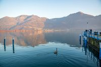 Awesome Iseo lake panorama