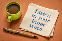 listen to your inner voice - inspirational handwriting