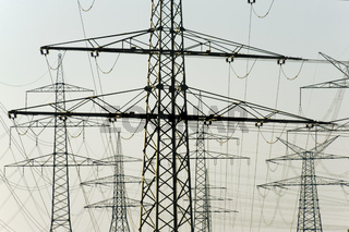 many electric power poles