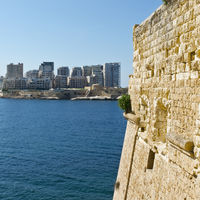 Sliema from the Fort of Valletta.