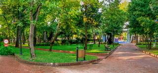 Public Garden of Canakkale in Turkey