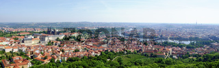 Panorama von Prag mit Hradschin und Moldau