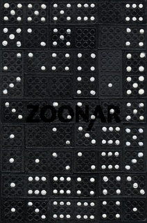 Schwarze Dominosteine mit weissen Punkten