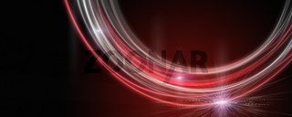 Powerful wave panorama background design illustration with light