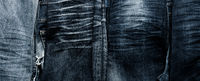 Texture of old used jeans using as header