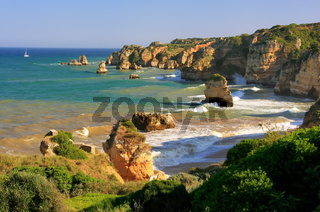 Ponta de Piedade in Lagos, Algarve region, Portugal