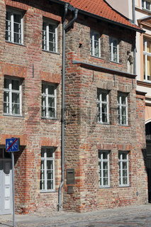 Seitenansicht des Gotischen Giebelhauses in Anklam