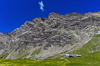 Alp Anzeindaz am Fuss des Diableretsmassivs, Anzeinde, Bex, Waadt, Schweiz