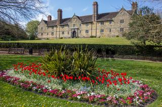EAST GRINSTEAD, WEST SUSSEX/UK - MAY 5  : Flower display outside Sackville College in East Grinstead on May 5, 2013