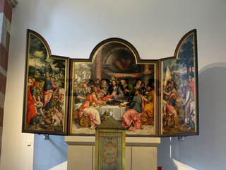 romanische Basilika St. Severin - Abendmahlstryptychon von Bartholomäus Bruyn