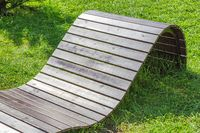 Homemade wooden furniture for the garden and backyard