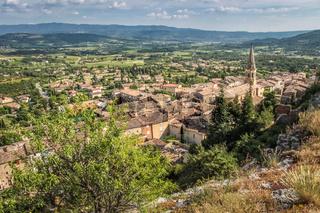 View of the village of Saint-Saturnin-les-Apt