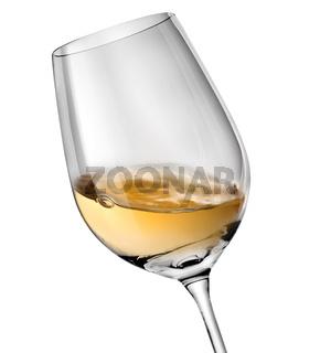 Wave in wineglass
