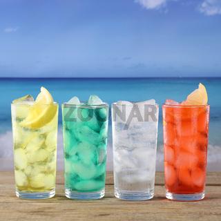 Limonade Getränke am Strand und Meer