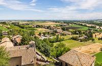 Torrechiara city near Parma. Emilia-Romagna. Italy.