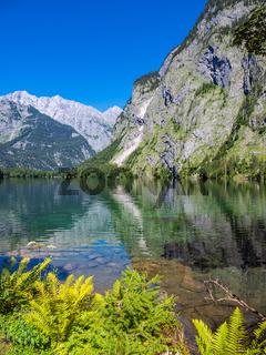 Blick auf den Obersee im Berchtesgadener Land