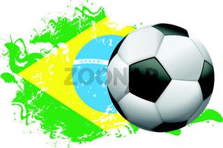Brazil Soccer Grunge Design
