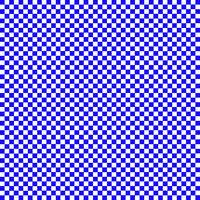 Blue and white checks