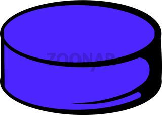 Hockey puck icon, icon cartoon