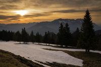 Sunset near Berchtesgaden