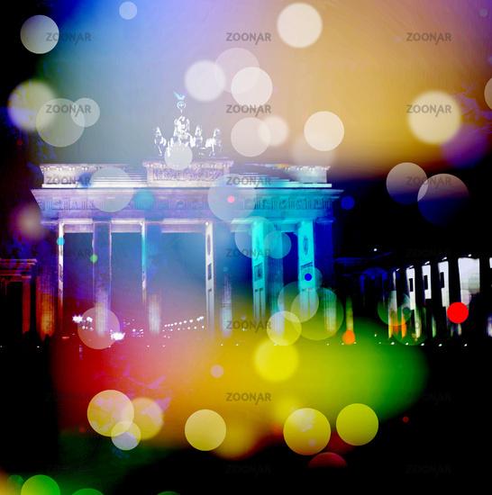 lichter abstrakt urban berlin