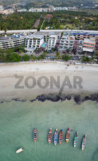 Patong Beach aerial view in Phuket, Thailand