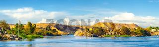 Sandy hills on river Nile