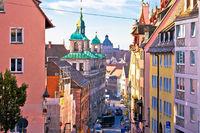 Nurnberg. Colorful street architecture on Nuremberg Burgstrasse view