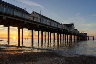 Sunrise over Southwold Pier