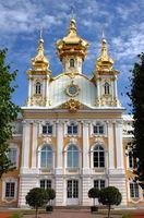 Church of St. Peter and Paul at Peterhof Palace. St. Petersburg