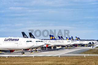 Flugzeuge von Lufthansa in Frankfurt